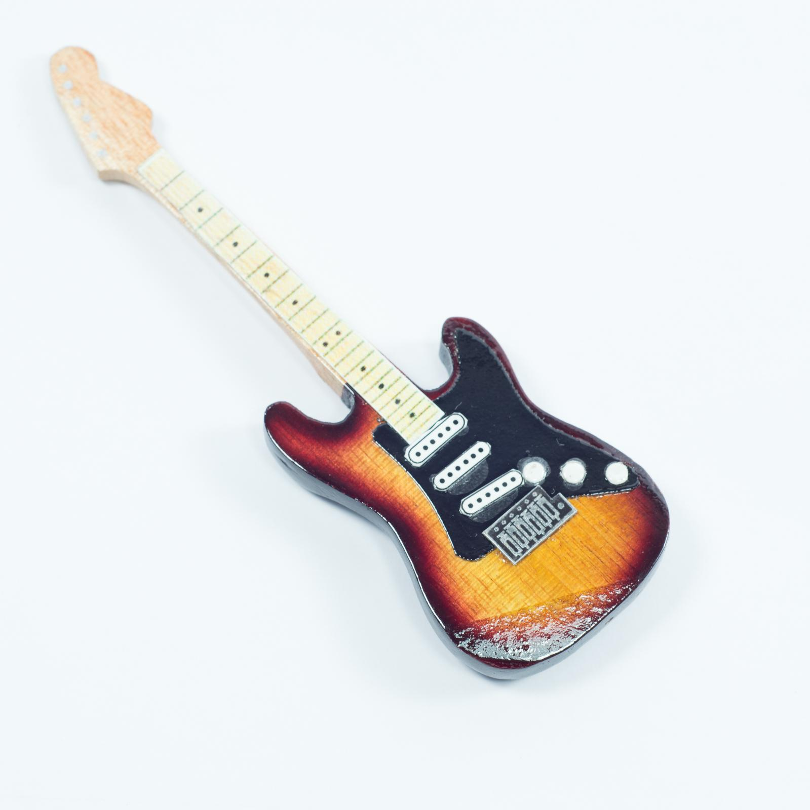 Guitar Shaped Magnet For Fridge - Vintage
