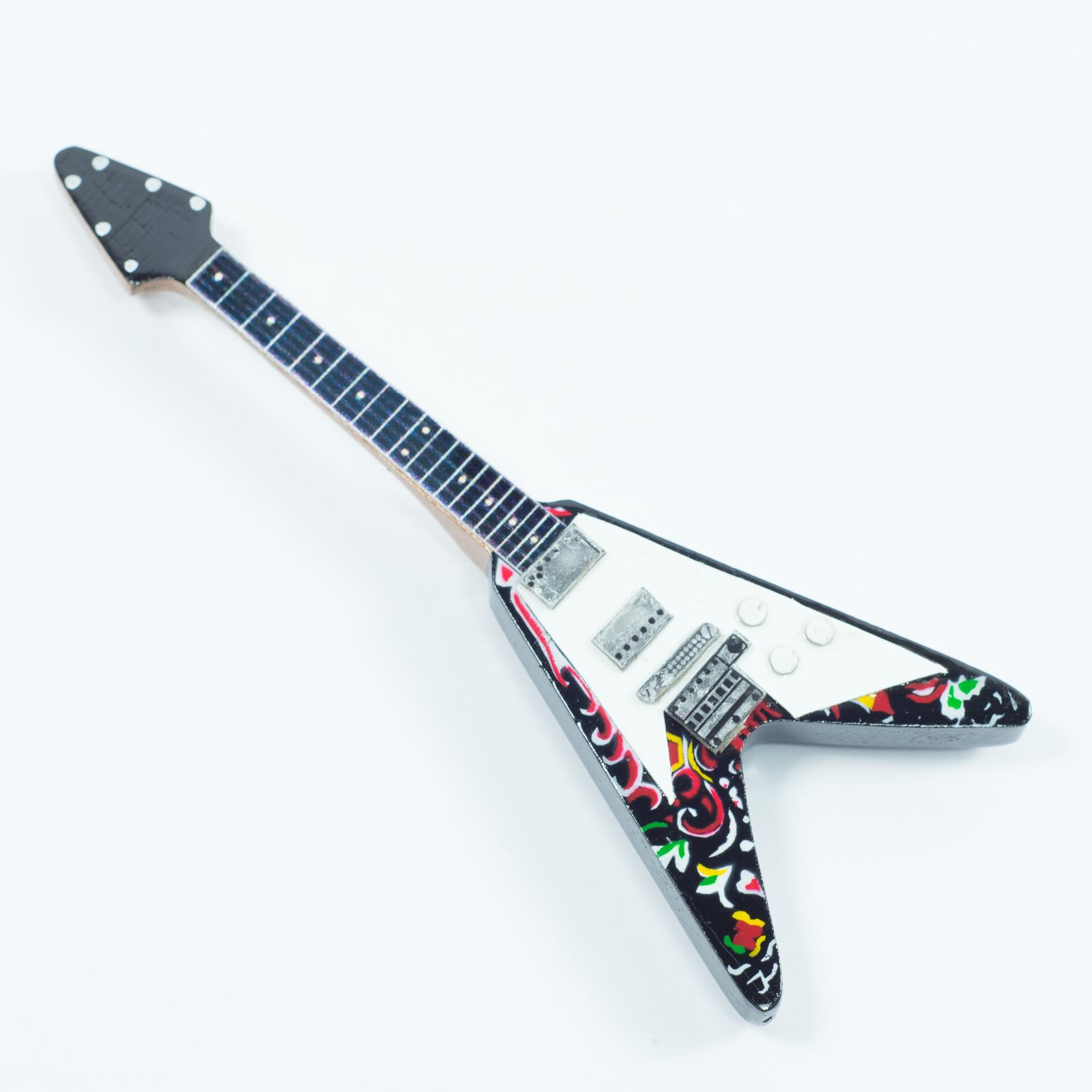 Guitar Shaped Magnet For Fridge - Jimi Hendrix - Flying V