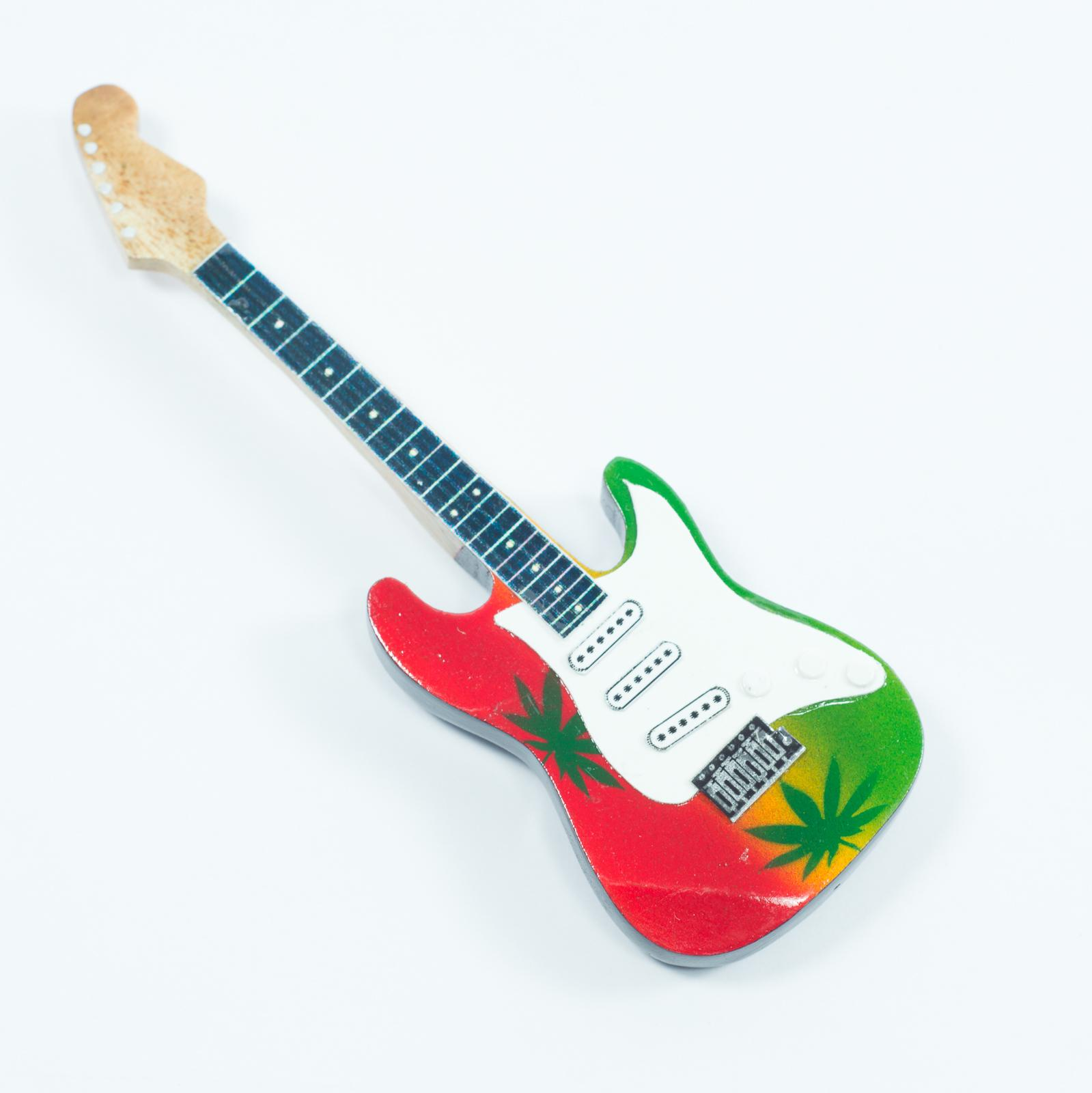 Guitar Shaped Magnet For Fridge - Marijuana Theme