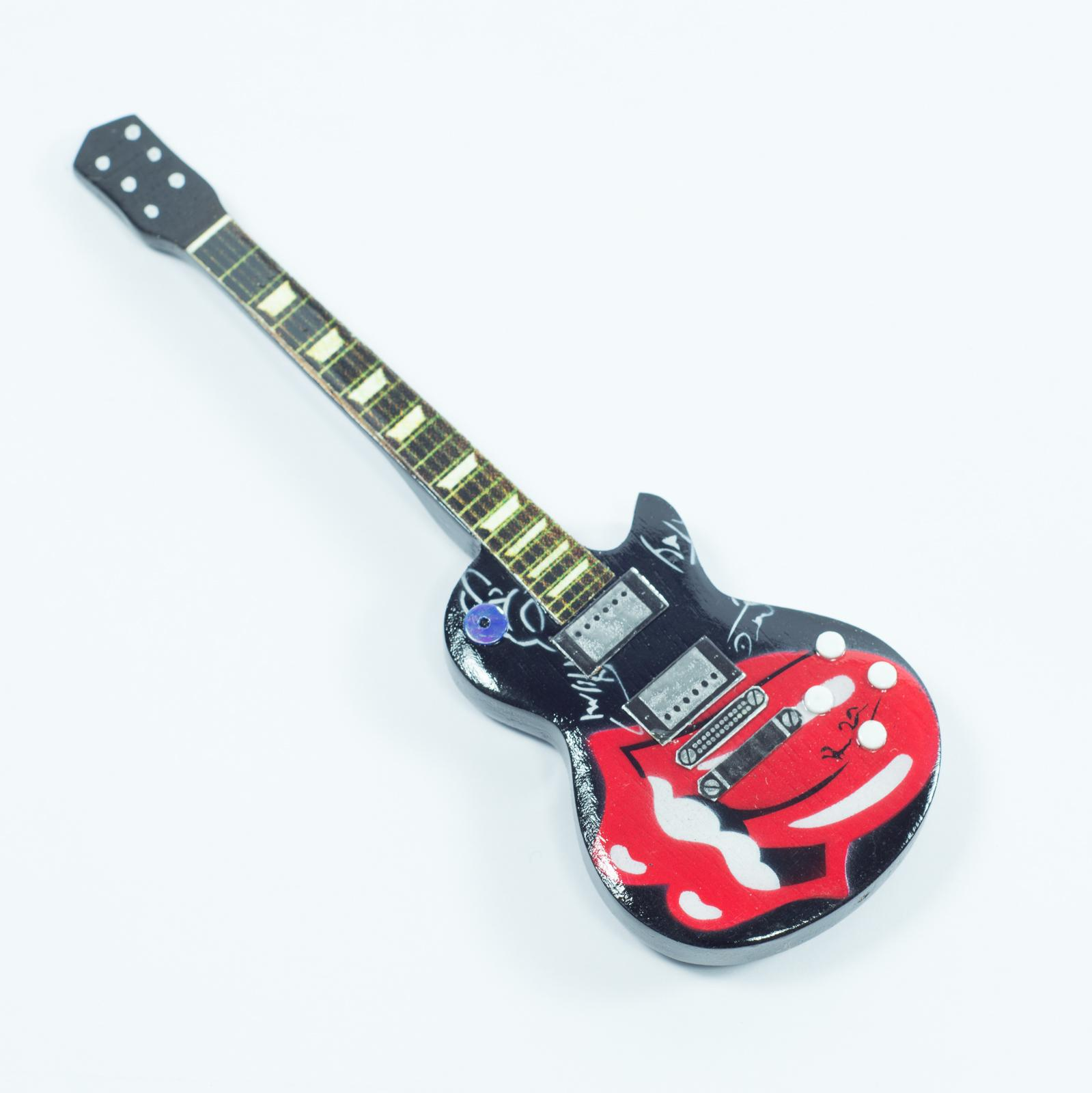 Guitar Shaped Magnet For Fridge - Rolling Stones - Tribute