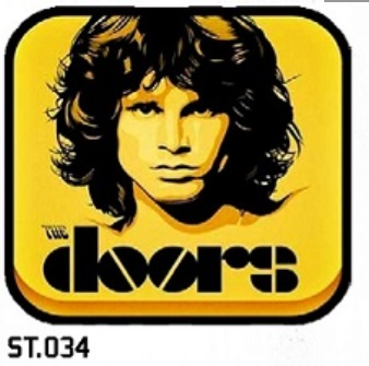 ADESIVO/STICKER - THE DOORS  (JIM MORRISON)