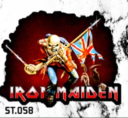 ADESIVO/STICKER - IRON MAIDEN  ( THE TROOPER )
