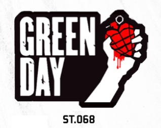 ADESIVO/STICKER - GREEN DAY  (AMERICAN IDIOT)
