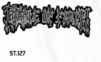 ADESIVO/STICKER - CRADLE OF FILTH  (LOGO)